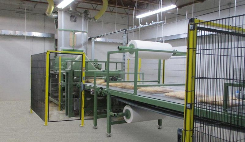 Production lines Type ACP for stitching air-cooler pads